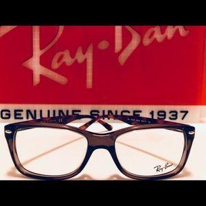 Ray-Ban Eyeglasses Opal Brown/Purple New 55mm